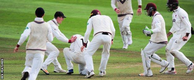Somerset secure Division One survival after win over Middlesex