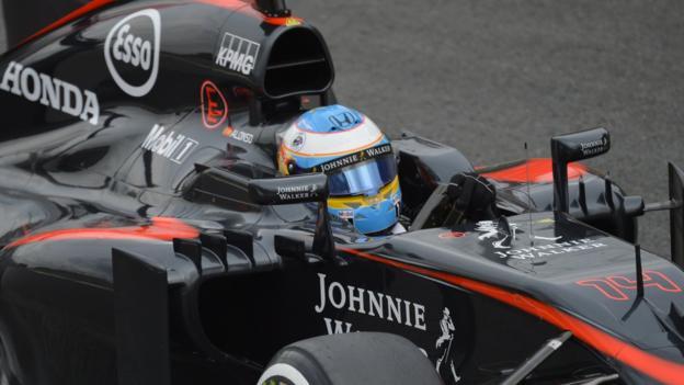 Italian GP: Fernando Alonso reveals Honda weaknesses - BBC Sport