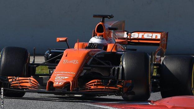Fernando Alonso in the McLaren