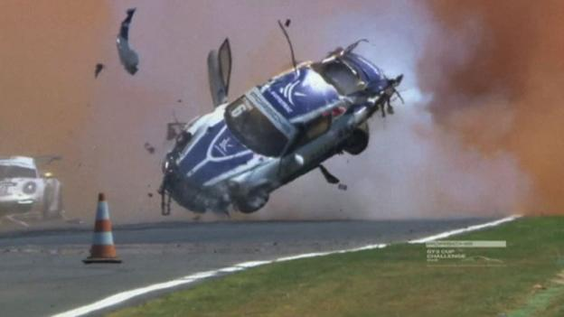 Pedro Piquet flips car nine times in spectacular GT3 crash - BBC Sport