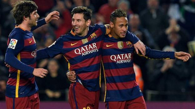 Barcelona 7-0 Valencia - BBC Sport