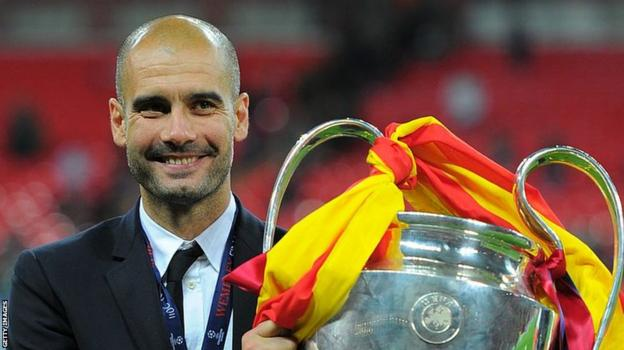 Pep Guardiola: Man City boss to beat Louis van Gaal's European 100-game record - BBC Sport