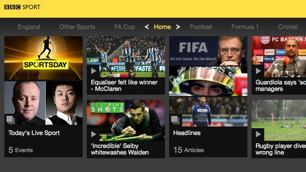 Red Button & Connected TV - BBC Sport