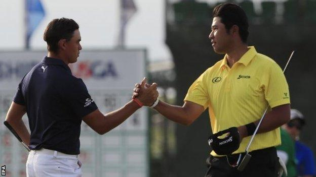 Rickie Fowler and Hideki Matsuyama