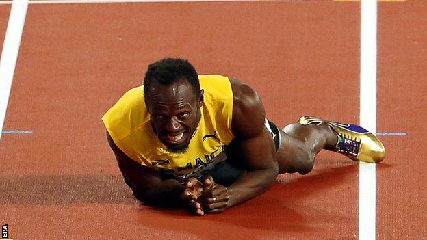 Usain Bolt last failed to win gold at the 2007 World Championships