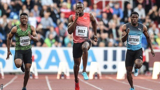 Usain Bolt wins in Ostrava