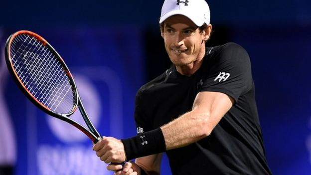 Andy Murray beats Malek Jaziri in first round of Dubai Tennis Championships