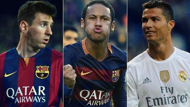 Neymar, Messi, Ronaldo: Is Brazilian now world's best player ...