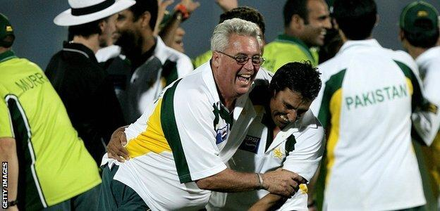 Bob Woolmer led Pakistan to a Test series victory over an England team who were fresh from winning the 2005 Ashes