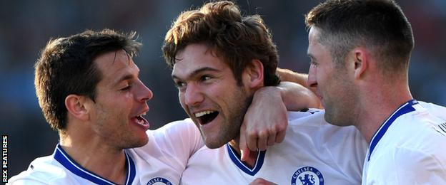 Chelsea defender Marcos Alonso
