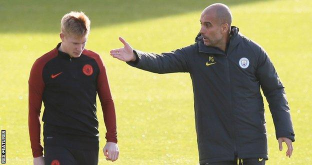 Kevin de Bruyne and Man City boss Pep Guardiola