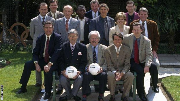 The BBC presentation team at Euro 96