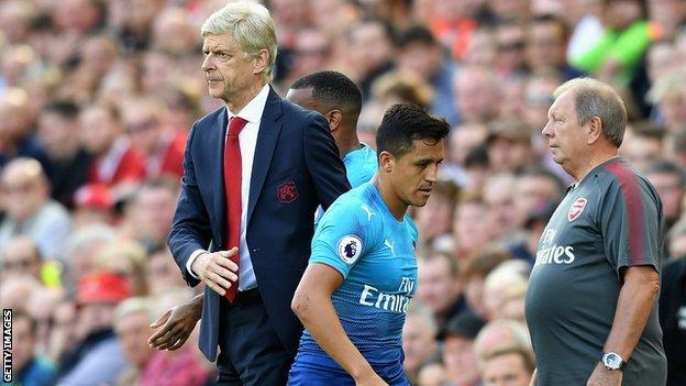 Arsene Wenger faced questions over the future of Alexis Sanchez until the end of the summer transfer window