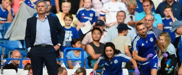 Jose Mourinho and Eva Carneiro, August 2015