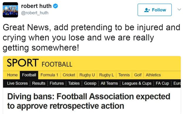 Robert Huth tweet