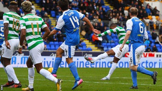 Celtic's Olivier Ntcham scored the fourth goal