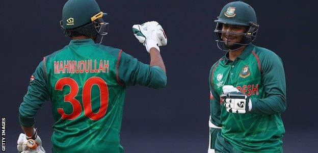 The partnership between Mahmudullah and Shakib was Bangladesh's first in excess of 200 in ODI cricket