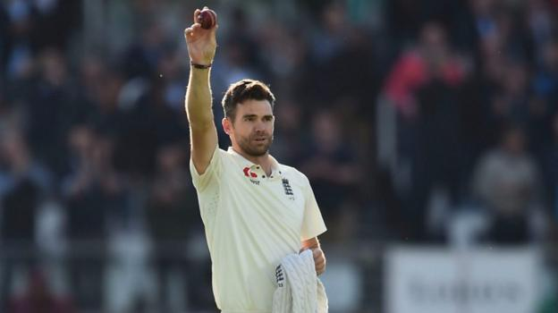 England v West Indies: James Anderson bowls Kraigg Brathwaite to take 500th Test wicket
