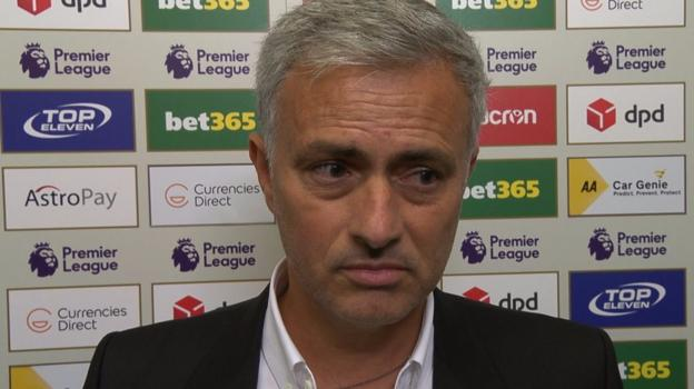 Watch: Mourinho walks out of interview after handshake question