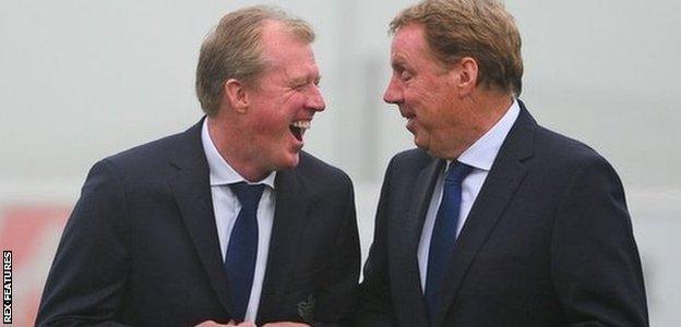 Steve McClaren (left) and Harry Redknapp