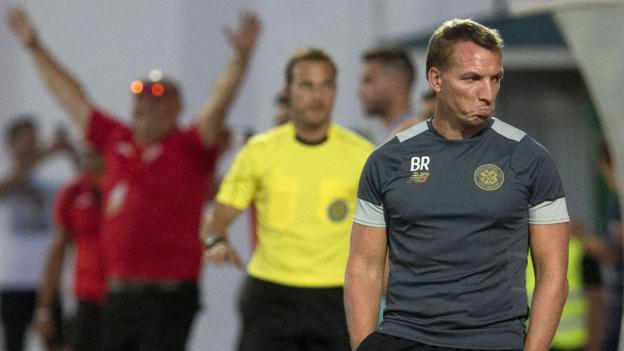 Lincoln Red Imps 1-0 Celtic: Brendan Rodgers says 'no embarrassment' in defeat