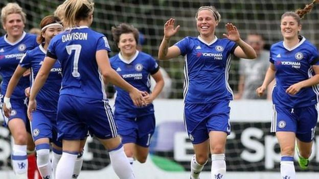 WSL Highlights: Chelsea 7-0 Liverpool - BBC Sport