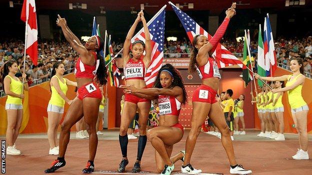 USA relay team