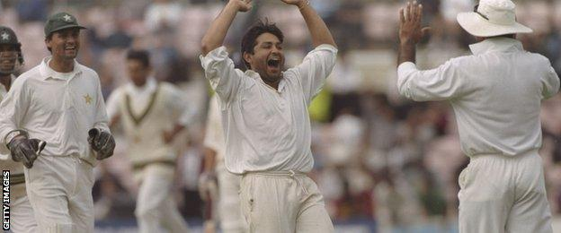 Yasir Shah was the first Pakistan bowler to take five wickets in a Test at Lord's since his current bowling coach Mushtaq Ahmed did so in 1996
