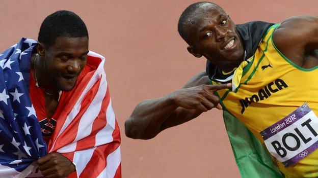 Campbell wants Gatlin to beat Bolt