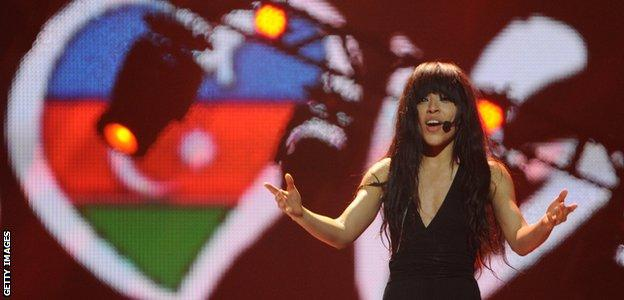 Sweden's Loreen, the winner of the Eurovision 2012