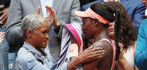 Sloane Stephens and her mum