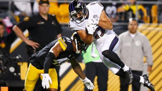 NFL: Campanaro touchdown helps Ravens beat Steelers - BBC Sport