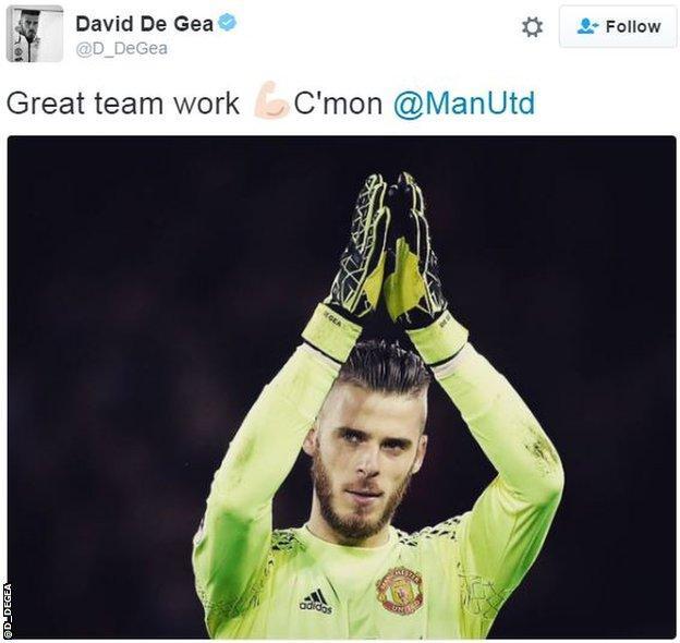 David de Gea tweet