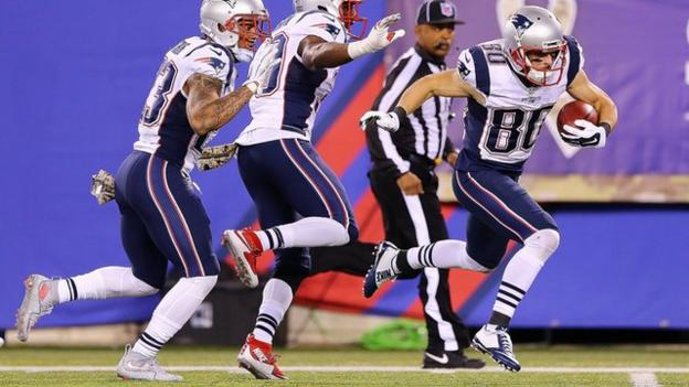 NFL: New England Patriots' Danny Amendola tripped by team-mate ...