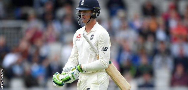 Keaton Jennings has a top score of 48 in the series