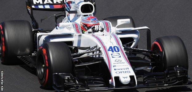 Paul di Resta in action at the Hungarian Grand Prix