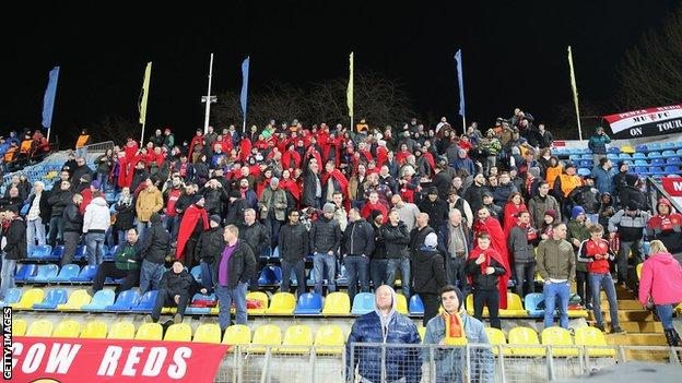 Man Utd fans in Rostov