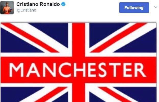 Former Manchester United player and current Real Madrid forward Cristiano Ronaldo