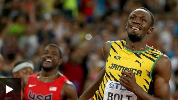 Usain Bolt beats Justin Gatlin to win world 100m title - BBC Sport