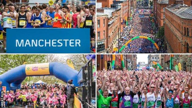 Images from the Great Manchester Run past events