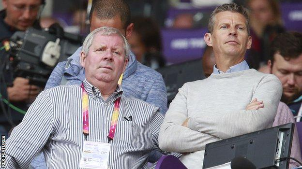 BBC Athletics commentators Brendan Foster and Steve Cram