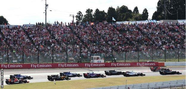 Japanese grand prix crowds