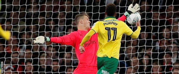Norwich goal
