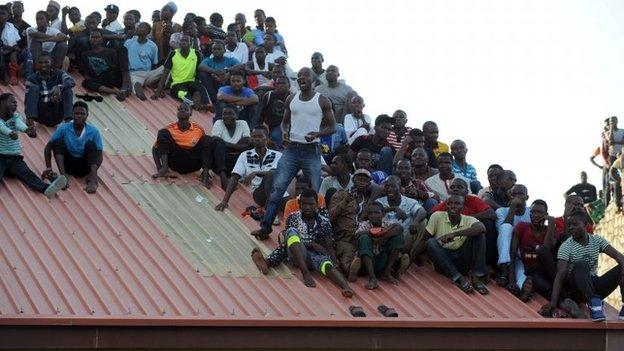 Fans also watched on roofs
