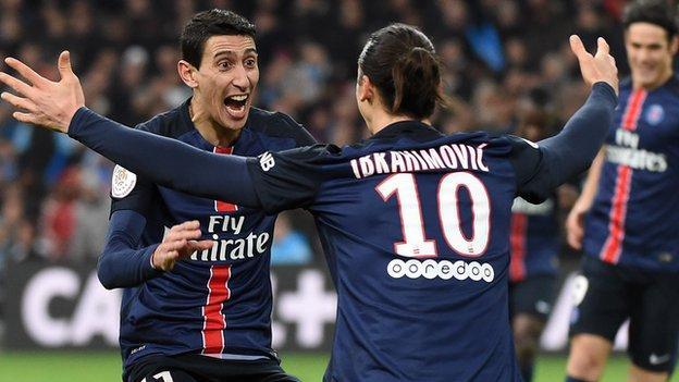 El PSG también gana el clásico francés en Marsella