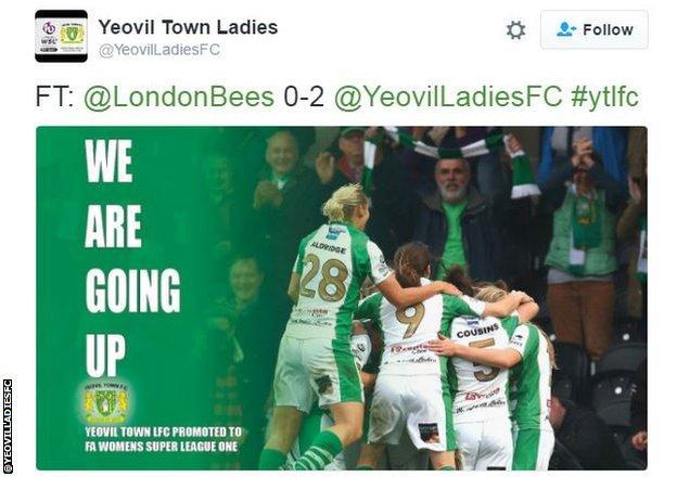 Yeovil Town Ladies tweet