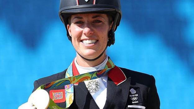 Rio olympics 2016 charlotte dujardin wins third olympic for Charlotte dujardin