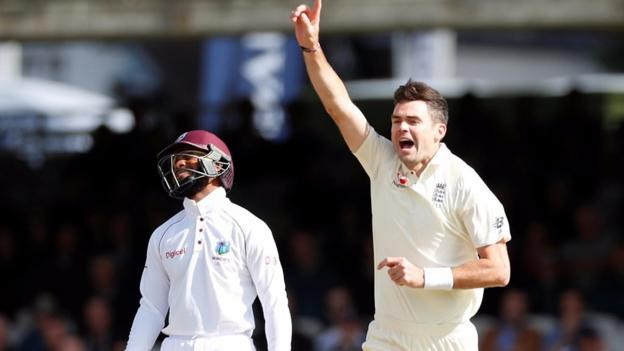 England v West Indies: James Anderson strikes early to claim Roston Chase wicket