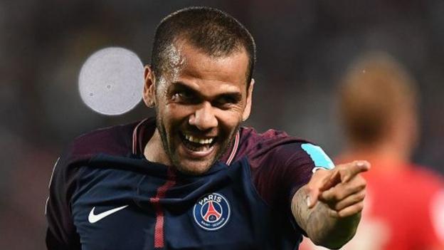 Alves stars as PSG beat Monaco in Tangiers