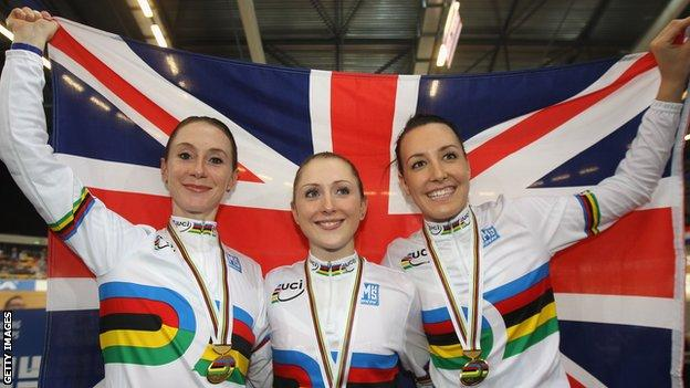 Wendy Houvenaghel, Laura Trott and Danielle King